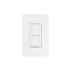 Lutron - Caseta - Socket 120 - 2 Gang Smart Lighting Switch