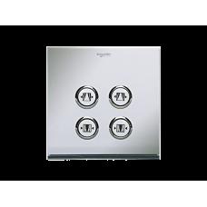 奧智系列 - EZinstall3 - 窗簾掣 - 86型開關面板 - 二位