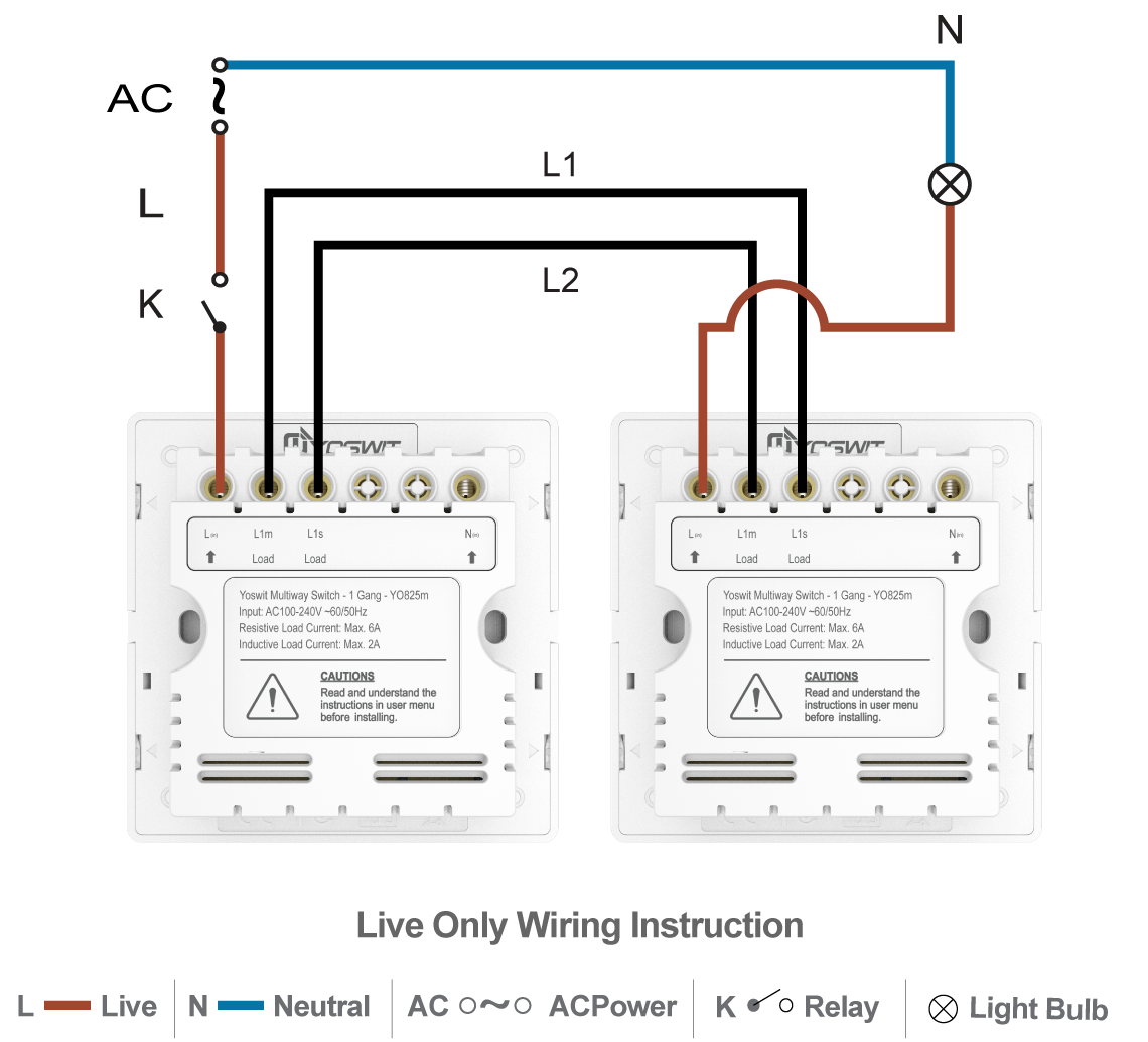 3 Way Switch Insteon Smart Socket 86 1 Gang Home Option Connect Two Yoswit Switches 2 Wire Without Neutral