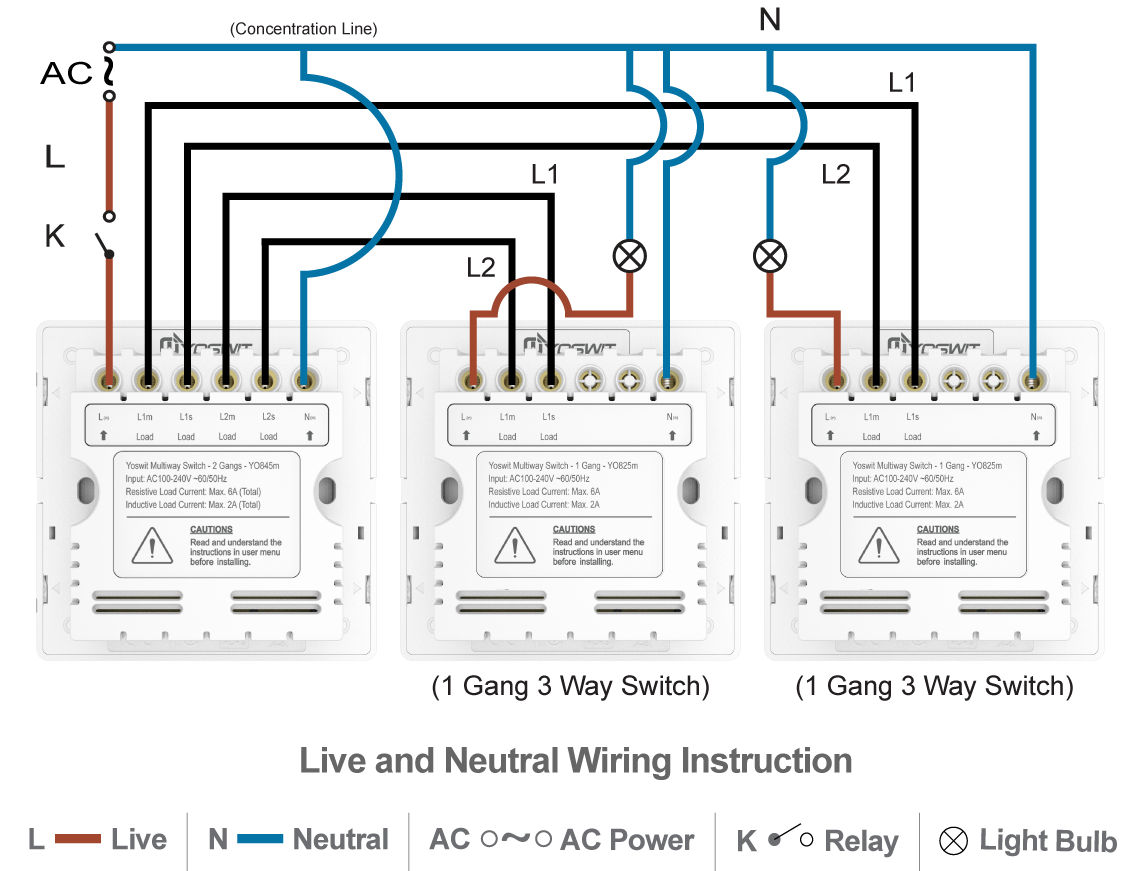 3 Gang 2 Way Switch Diagram Uk Schematics Wiring Diagrams For Light 1 Circuit And Multiple