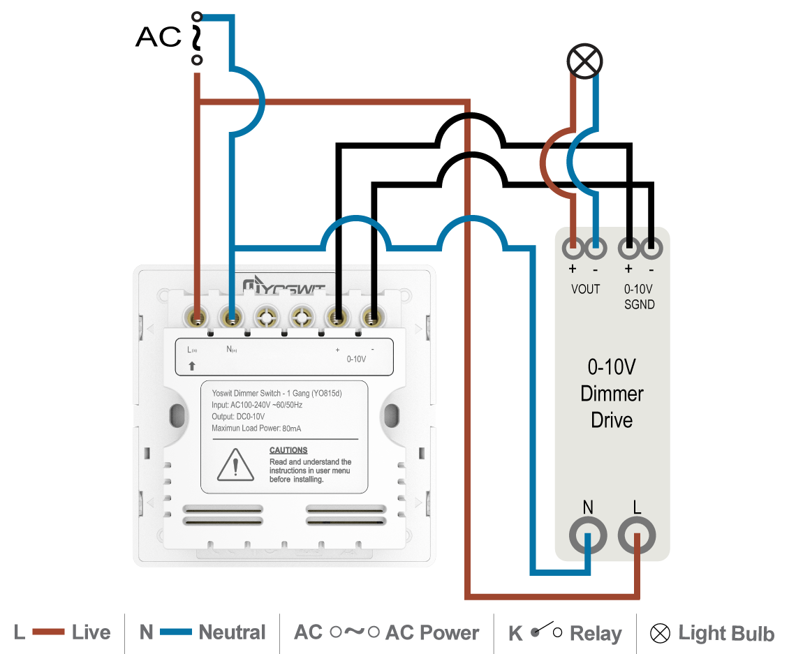 Wiring Diagram For Dimmer Best Secret Switch Water Heater Fan Relay 0 10v Installation Immersion Uk Dimmable Led Strip