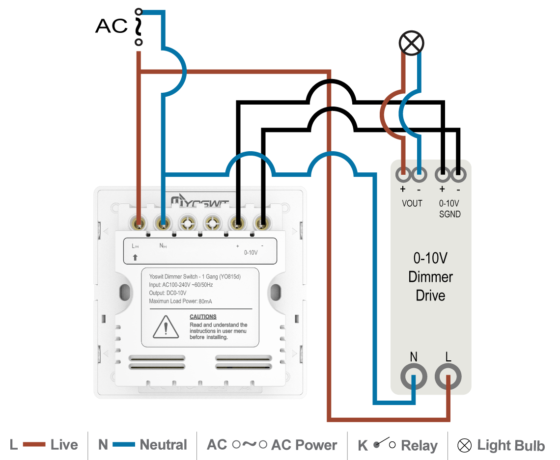 C V 0 10v Led Driver on dimmer switch installation diagram