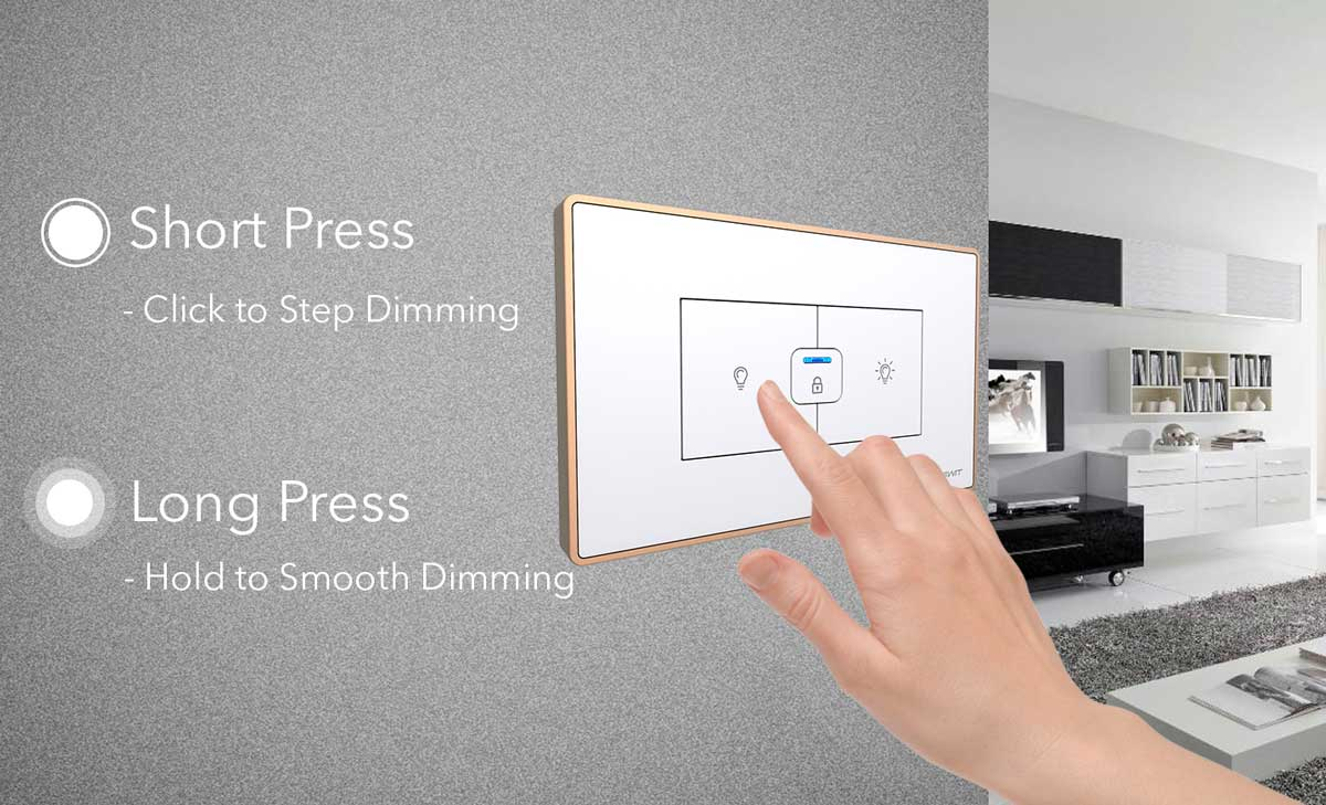 Smart Dimmer Switch Socket 118 Home Le Grand 3 Way Wiring Diagram Short And Long Press Mode